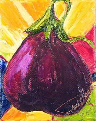 Purple Eggplant Print by Paris Wyatt Llanso