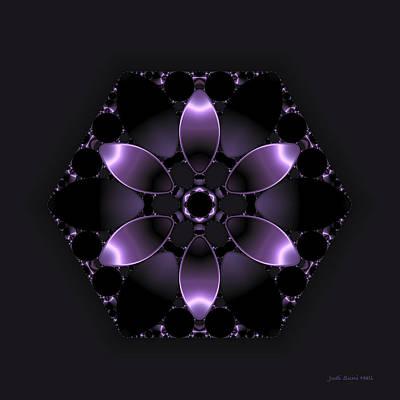 Purple Fantasy Flower Print by Judi Suni Hall