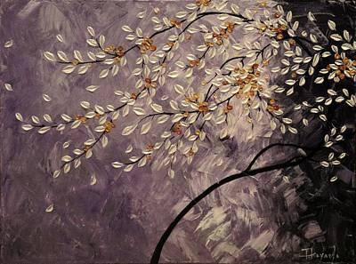 Sakura Painting - Purple Garden by Tomoko Koyama