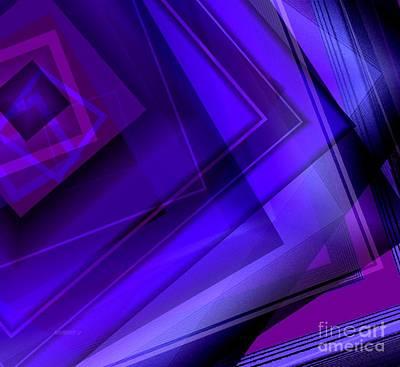 Mixed Digital Art - Purple Geometric Transparency by Mario Perez