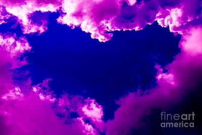 Abstract Photograph - Purple Heart And Pink Clouds by Kerstin Ivarsson