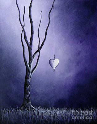 Abstract Night Sky Painting - Purple Love By Shawna Erback by Shawna Erback