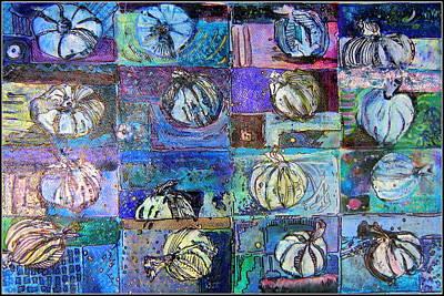 Onion Drawing - Purple Onions by Mindy Newman