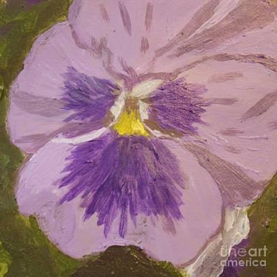 Purple Pansy 1 Print by Vicki Maheu
