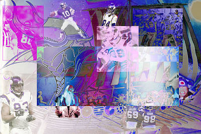 Purple People Eaters Print by Jimi Bush
