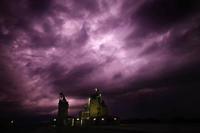 Prairie Storm Photograph - Purple Prairie Storm by Ian MacDonald