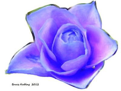 Rose Painting - Purple Rose Bud by Bruce Nutting