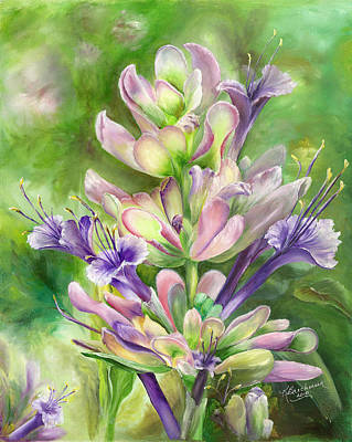 Purple Sage Original by Kathy Brecheisen