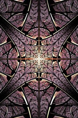 Portal Mixed Media - Purple Shield by Anastasiya Malakhova