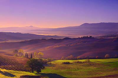 Vineyard Photograph - Purple Sunrise by Midori Chan