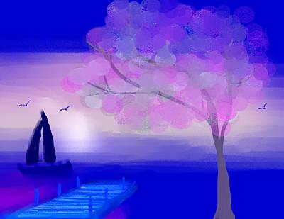 Purple Sunset Print by Paula Brown