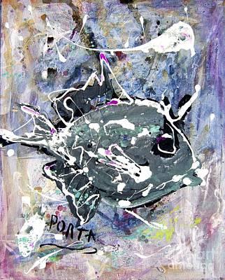 Purple Triggerfish Print by Dustin Porta