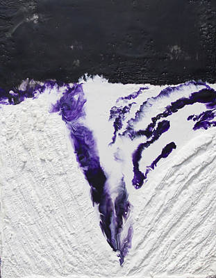 Hot Wax Painting - Purple Waves by Terry Juhl