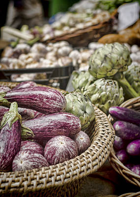 Artichoke Photograph - Purples And Greens by Heather Applegate