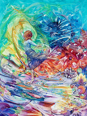 Energetic Painting - Pushing Into The New by Susan Card