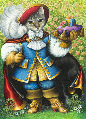 Birthday Present Painting - Puss-in-boots by Lynn Bywaters