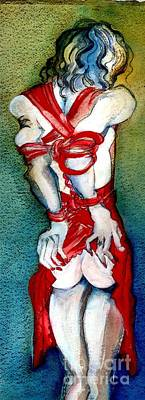Mature Mixed Media - Put On Your Red Dress Baby by Carolyn Weltman