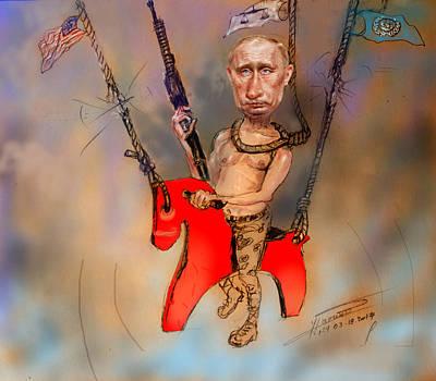 Putin In A Suicidal Game  Print by Ylli Haruni