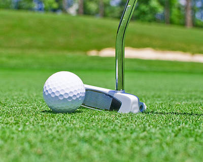 Golf Photograph - Putter And Ball by Brett Price