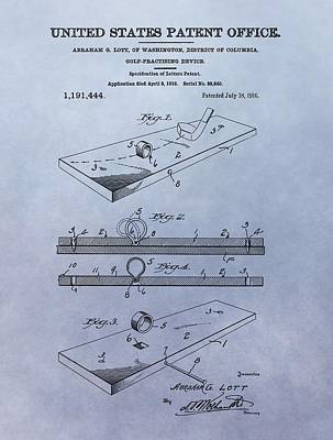 Golf Mixed Media - Putting Practice Patent by Dan Sproul