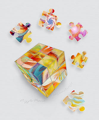Puzzle Mania Print by Gayle Odsather