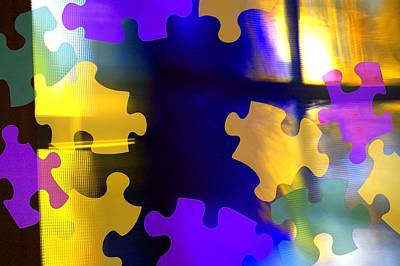 Background And Textures Photograph - Puzzle Piece Abstract by Chris and Kate Knorr