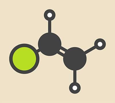 Polymer Photograph - Pvc Building Block Molecule by Molekuul