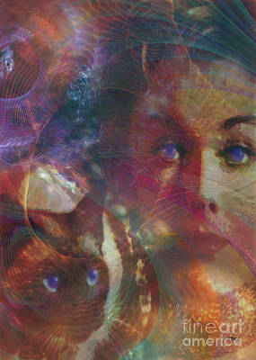 Gillian Digital Art - Pyewacket And Gillian by John Robert Beck