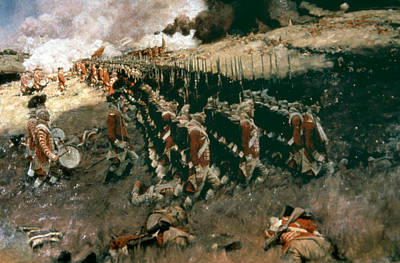 Redcoat Photograph - Pyle: Battle Of Bunker Hill by Granger
