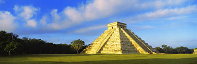 Ancient Civilization Photograph - Pyramid In A Field, Kukulkan Pyramid by Panoramic Images
