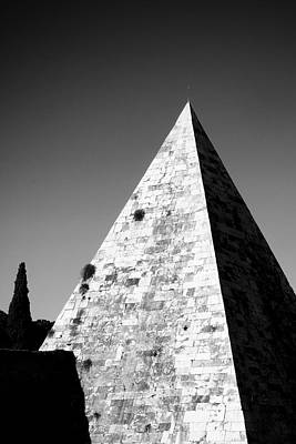 Ancient Architecture Print featuring the photograph Pyramid Of Cestius by Fabrizio Troiani