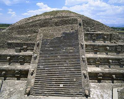 Pyramid Of The Moon. 4th C. Mexico Print by Everett