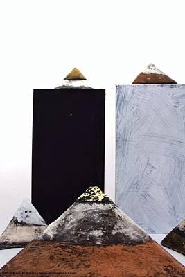 Outsider Sculpture - Pyramidas  by Mark M  Mellon