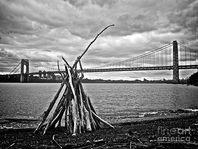 Pyre At The Bridge Print by Mark Miller