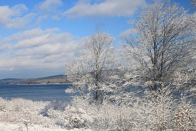 Quabbin Reservoir After Snowstorm Print by John Burk