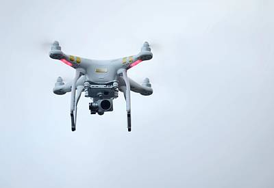 Helicopter Photograph - Quadcopter Drone With Camera by Cordelia Molloy