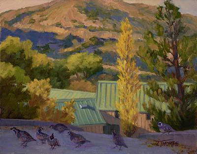 Quail Crossing Original by Jane Thorpe