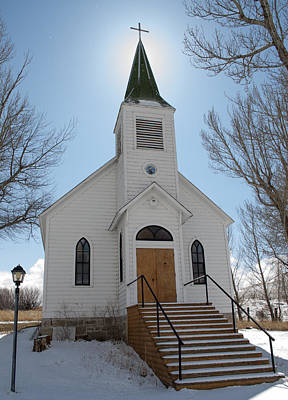 Daysray Photograph - Quaint Montana Church by Fran Riley