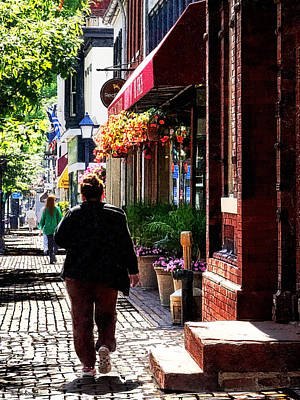 Woman Photograph - Alexandria Va - Quaint Street by Susan Savad