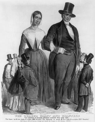 Quaker Giants, 1849 Print by Granger