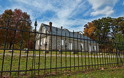 Quaker Meeting House - Warrington Print by Mark Jordan