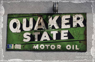 Quaker State Motor Oil Print by Janice Rae Pariza