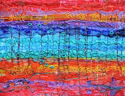 Quantum Cascade Print by Regina Valluzzi