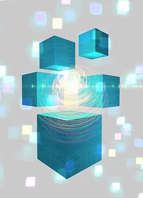 Quantum Mechanics Print by Victor Habbick Visions