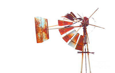 Abstract Windmill Photograph - Quarter 'til Nothing by Robert Frederick