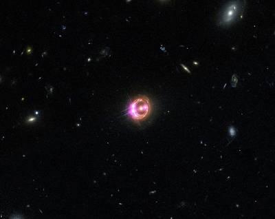 Quasar Print by X-ray: Nasa/cxc/univ Of Michigan/r.c.reis Et Al; Optical: Nasa/stsci