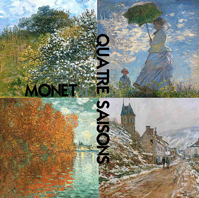 Montage Painting - Quatre Saisons A Collage Of Monets by Philip Ralley