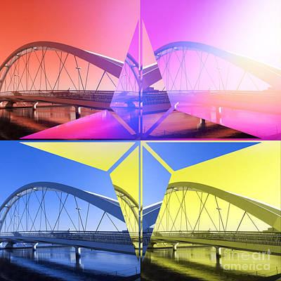 Abstruse Digital Art - Quatro Star Bridge 1 by Beverly Claire Kaiya