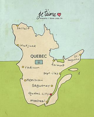 Quebec Print by Lisa Barbero