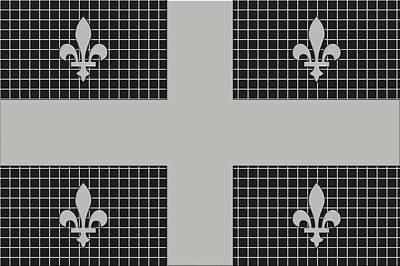 Canadiens Digital Art - Quebec Metal Mesh Flag by David G Paul